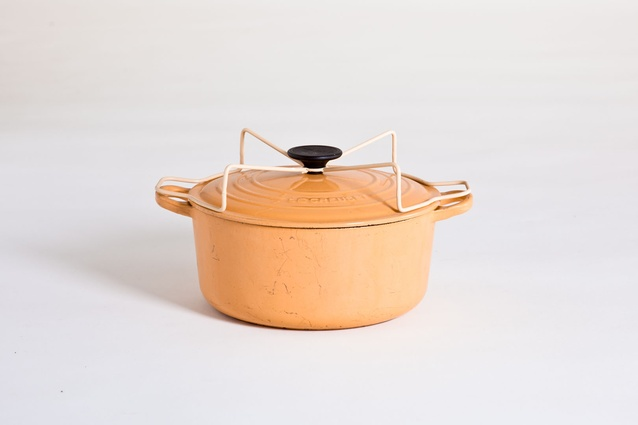 From <em>things revisited</em>Wilson's Le Creuset pot lid now allows the upturned lid to serves as a stand.