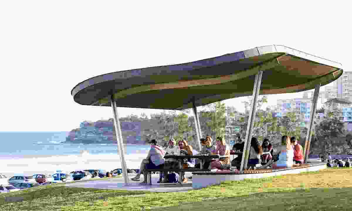 Bondi Beach Picnic Shelters by Tonkin Zulaikha Greer Architects.
