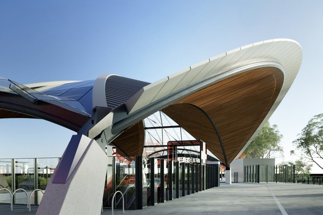 Sydney Metro Northwest's Castle Hill station, designed by Hassell.