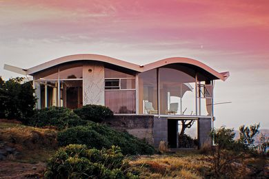 Dorney House sits high above Sandy Bay, with 360-degree views of Hobart.