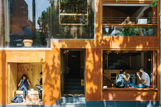 Flipboard Cafe is located on Melbourne's busy La Trobe Street.