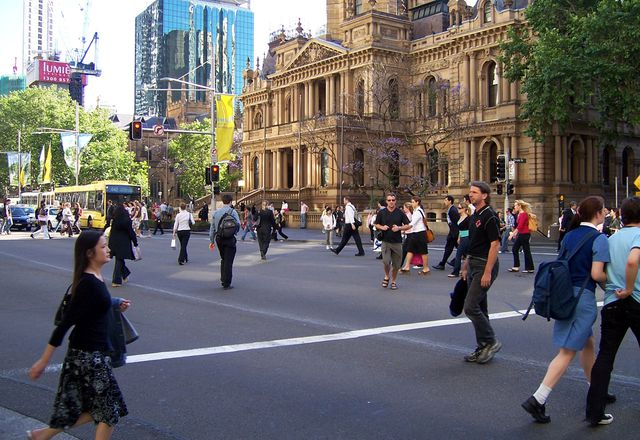 Crossing the street: a routinely paralysing experience for the author.
