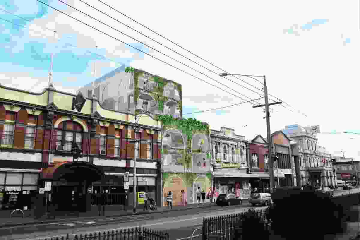 The proposal for Nightingale 3.0 by Austin Maynard Architects at 209 Sydney Road, Brunswick, Melbourne.