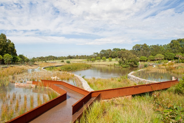 Sydney Park Water Re-Use Project Stage 2 by Turf Design Studio and Environmental Partnership.