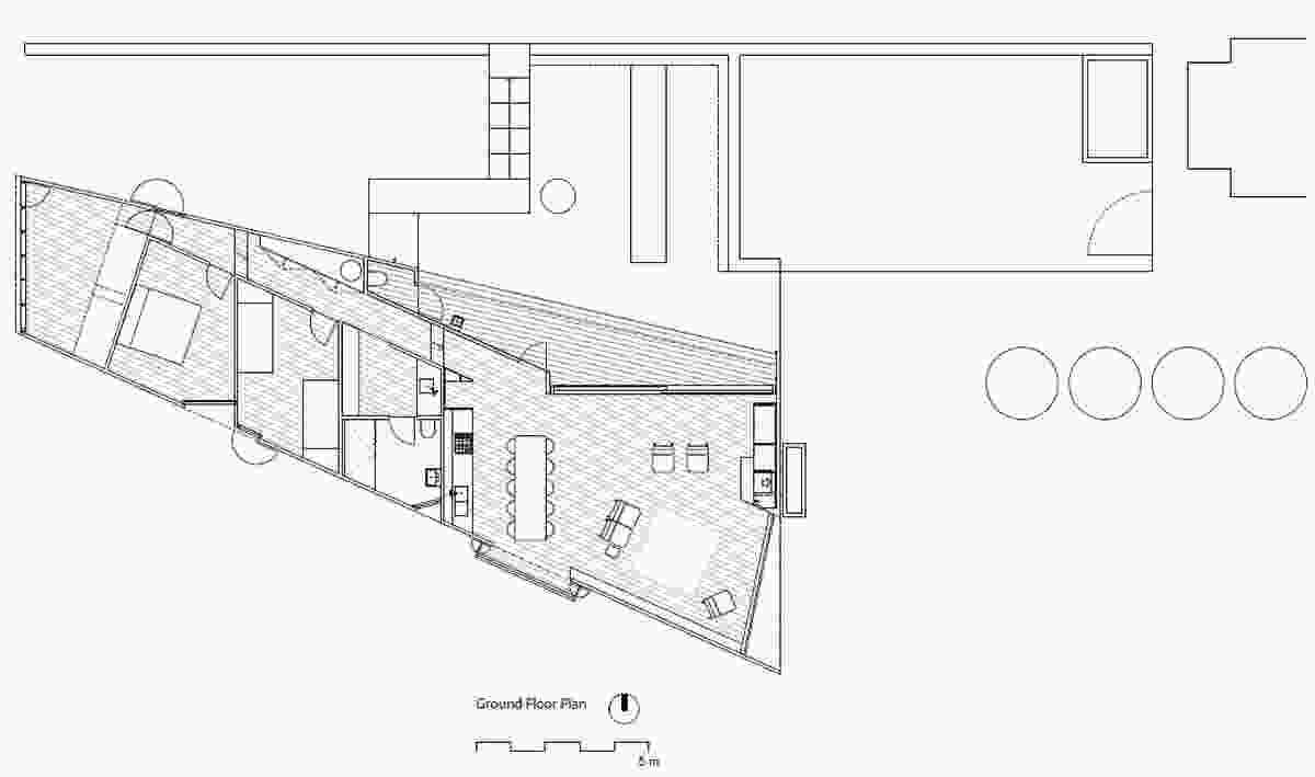 Site plan of Shearer's Quarters by John Wardle Architects.
