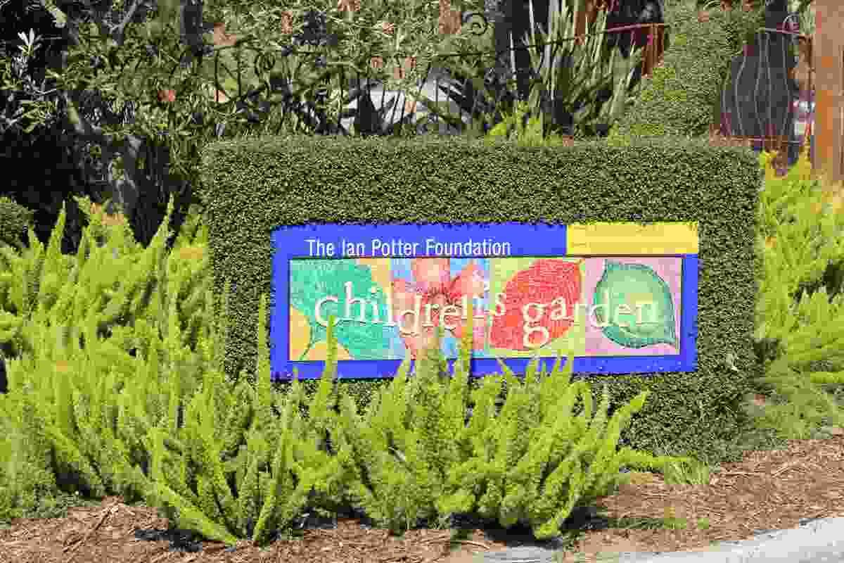 Entrance to the Ian Potter Foundation Children's Garden at the Royal Botanic Gardens Melbourne.