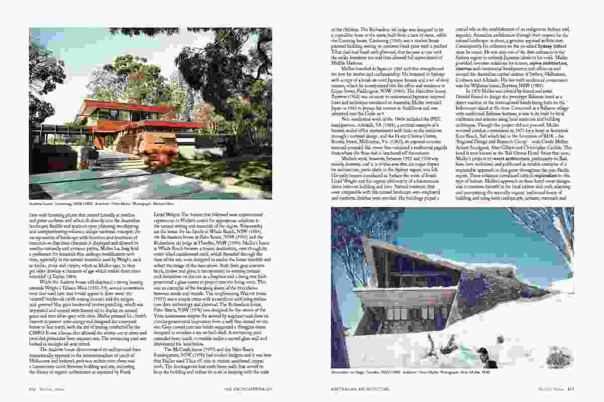 A spread from The Encyclopedia of Australian Architecture.