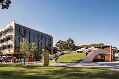Creative Quarter Cycle Hub, Curtin University by Place Laboratory, winner of the Award of Excellence in the Infrastructure category in the 2019 program.