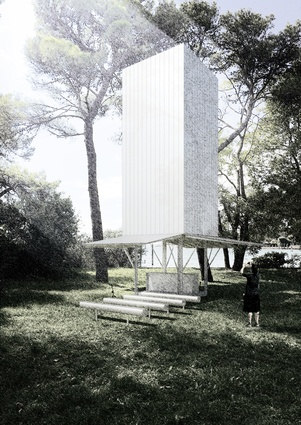 The Sean Godsell-designed chapel for the <i>Vatican Chapels</i> exhibition at the Venice Architecture Biennale.