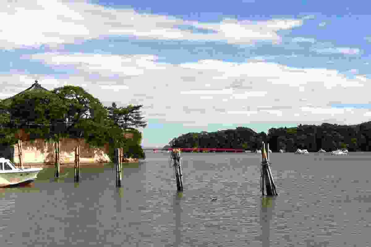 Matsushima's picturesque coastline.