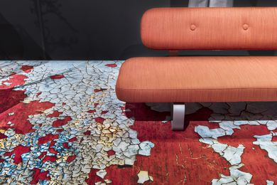 Moooi Carpets from the Space collection build on the company's rug range by using technology to generate high definition prints and photo-realistic flooring.