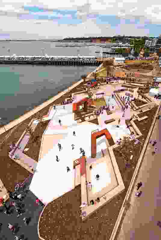 Convic provided a plaza where art, sport, music and markets can be staged.