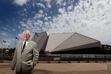 John Morphett outside the Adelaide Festival Centre.