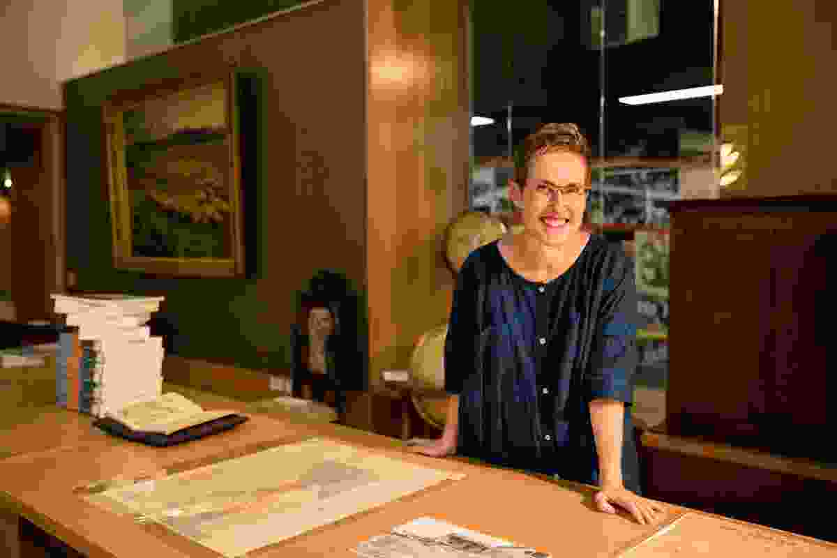 Amalie Wright, curator of the Design Finds exhibition at the Asia Pacific Design Library.
