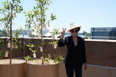 Artist Yoko Ono with Wish Tree for Sydney (1996/2013).