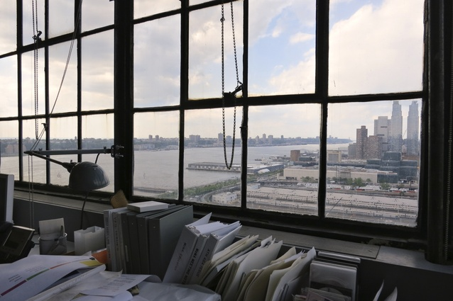 The Diller Scofidio + Renfro office overlooks the High Line.
