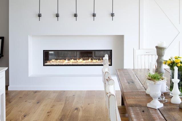 Escea Dx1500 Frameless Ducted Gas Fireplace Complements Minimalist Interior Architectureau