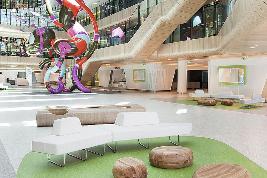 The Grand Prix winner and winner of the Commercial Interior category – the Royal Children's Hospital by Billard Leece Partnership and Bates Smart.