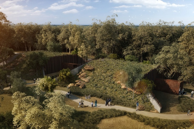 The nocturnal habitat and reptile and insect habitat of the proposed Sydney Zoo designed by Misho and Associates.