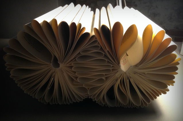 Books up-cycled into furniture by Anupama Kundoo.