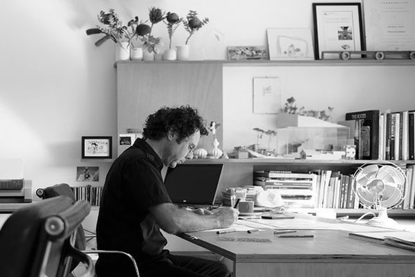 Architect David Boyle at his studio.
