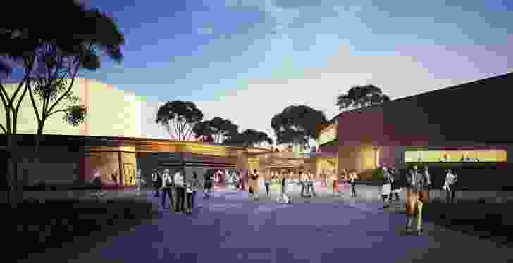 New entrance foyer in the proposed refurbishment of the Alexander Theatre by Peter Elliott Architecture and Urban Design. (Conceptual image, subject to ongoing design resolution.)