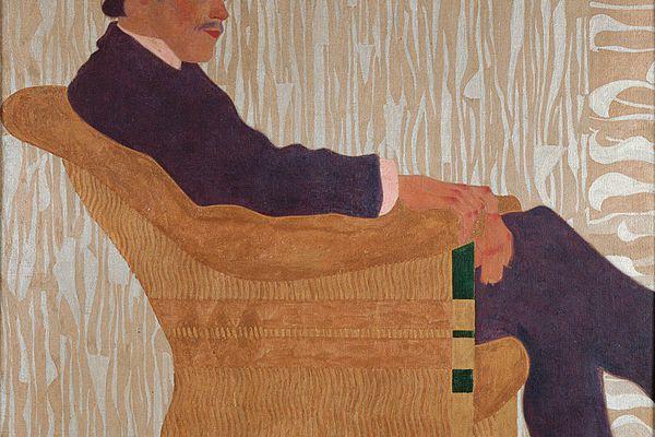 Portrait of the painter Hans Massmann, Egon Schiele, 1909.