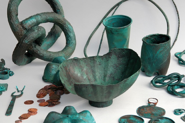Peter Bauhuis' <i>Treasure of Kolomna</i>, supposedly from Russia, ca. 600 AD; Bronze, copper