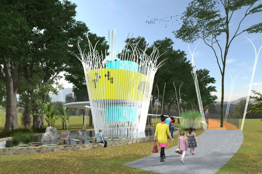 Canistrum by Michael Lennie, winner of the Sunshine Coast Council's Designer Dunny competition.