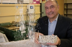 Medical waste to produce durable, sustainable concrete