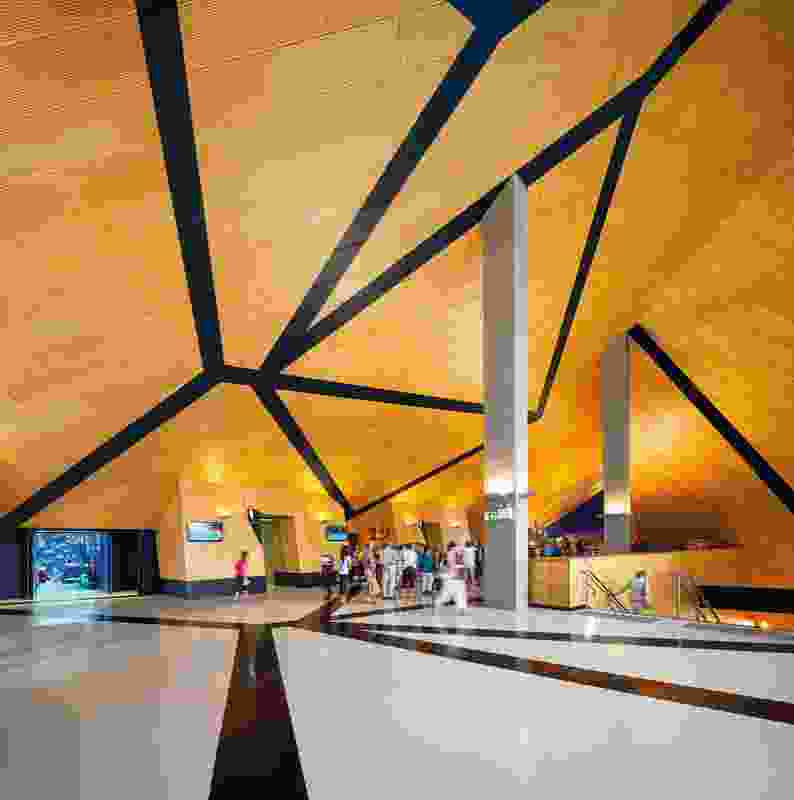 The Perth Arena takes dimensionality in architecture to the next level.
