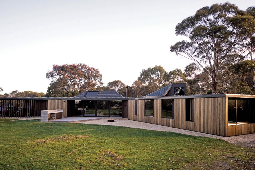 Lagoon House in Clifton Beach, Tasmania by Taylor and Hinds Architects.