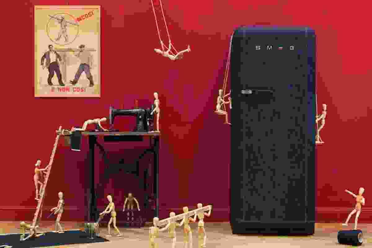 FAB28 refrigerator by Smeg.