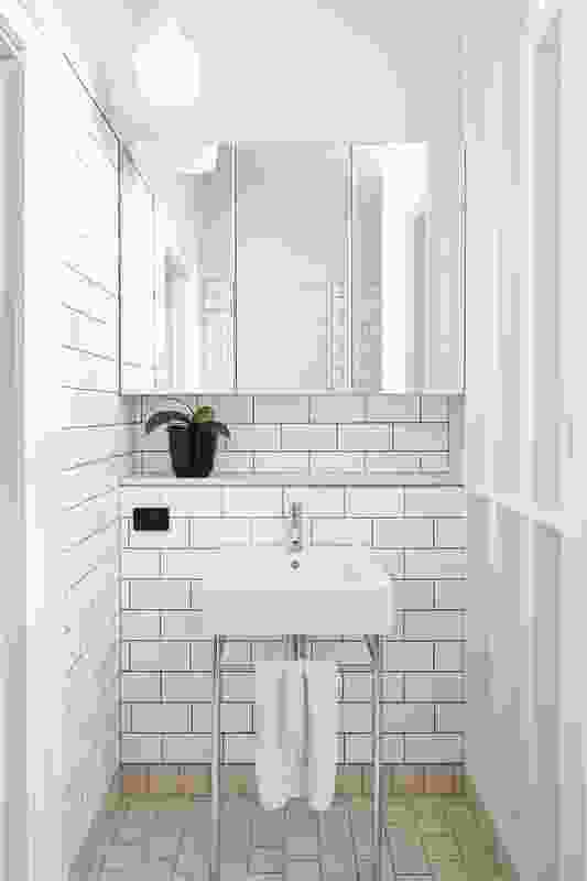 The ensuite is reworked as a set of tiled cells.