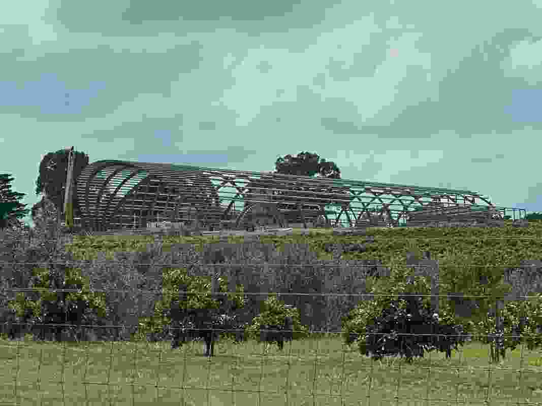 The proposed Levantine Hill Estate by Fender Katsalidis under construction.