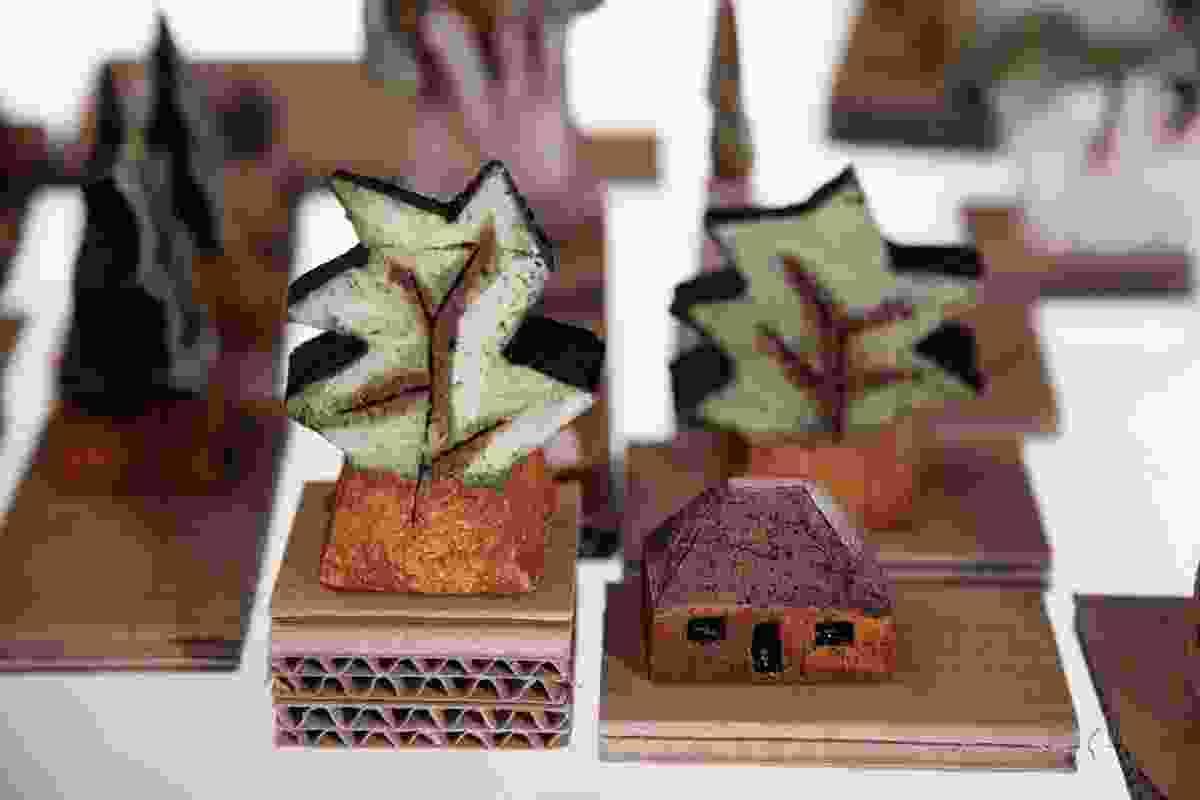 Ceramic models by Ann Ferguson.