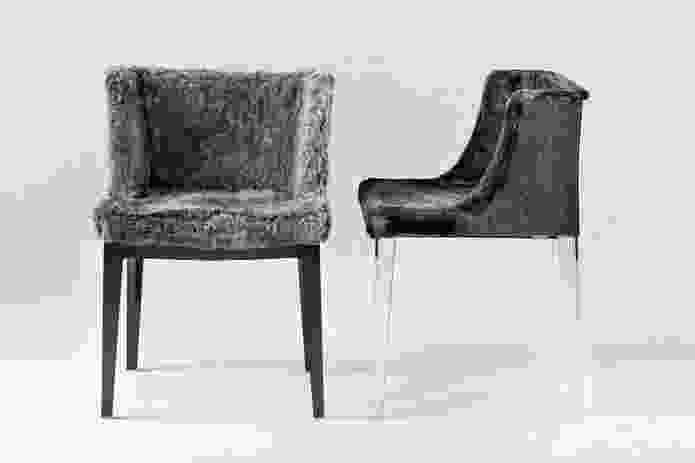 Mademoiselle armchair reimagined by Lenny Kravitz, originally designed by Philippe Starck.