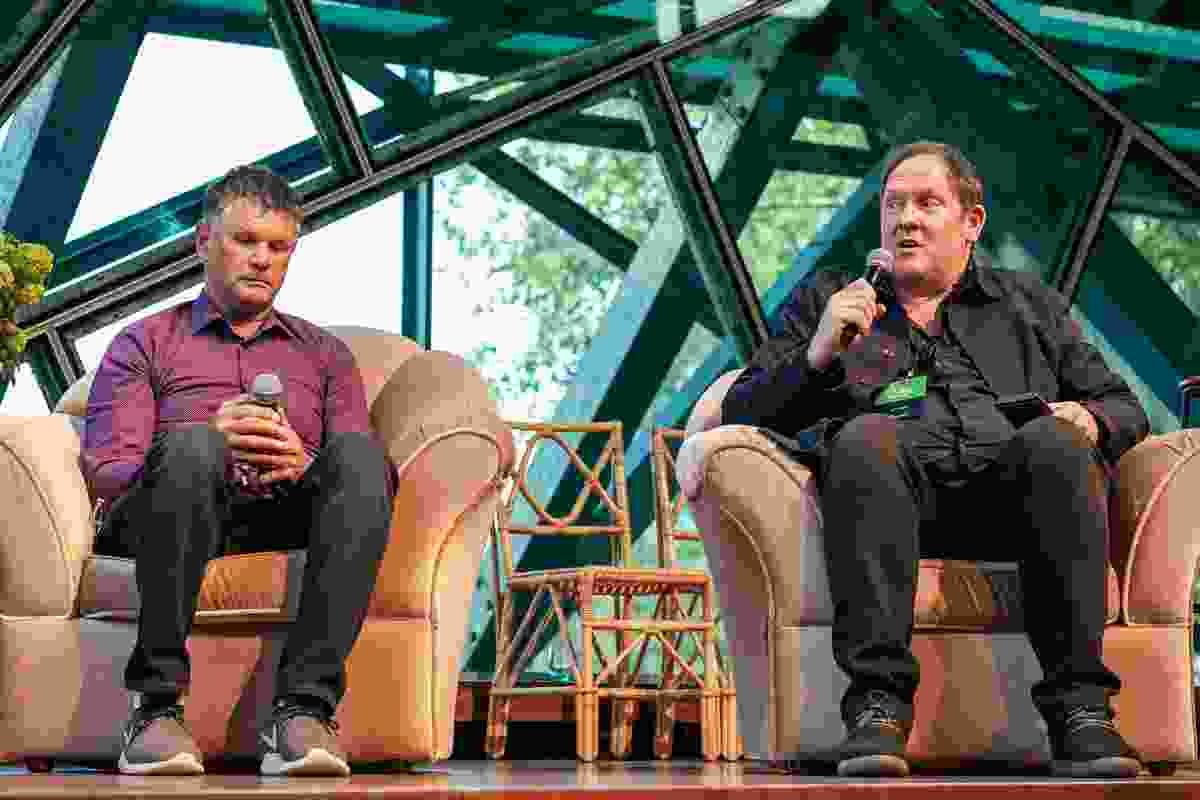 Indigenous artist Richard Walley and Julian Raxworthy discussed urban landscape design processes.