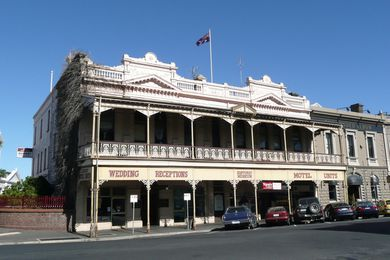 The former Reid's Coffee Palace, Ballarat, designed by Tappin and Gilbert (1886).