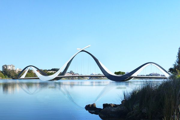 Matagarup Bridge by Denton Corker Marshall.