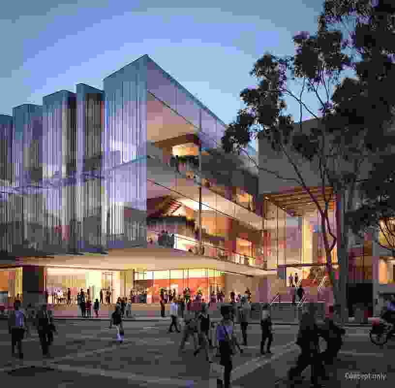 Proposed QPAC theatre by Snøhetta and Blight Rayner Architecture.