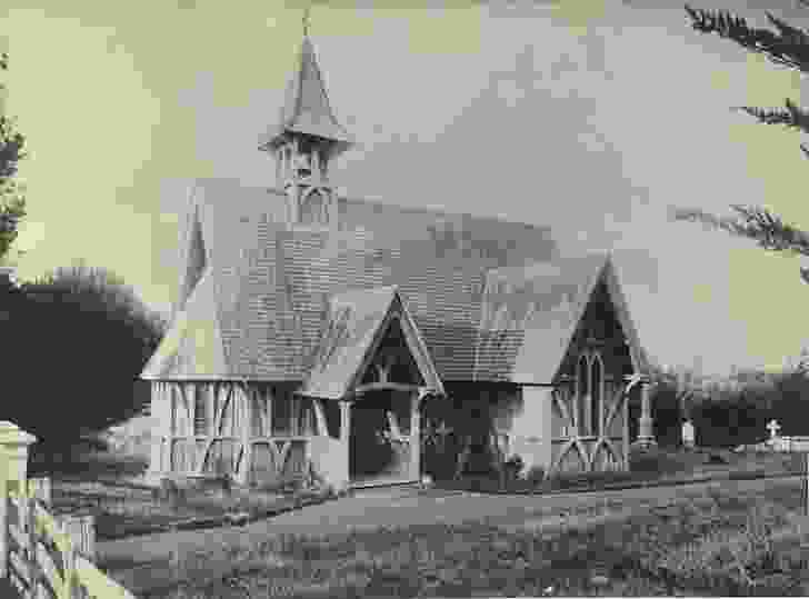 Lack of permanent materials and expertise did not inhibit colonial building. St John's College Chapel in Auckland, New Zealand designed by Bishop Selwyn with Frederick Thatcher in 1847.