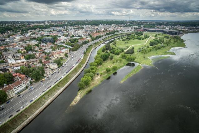 Kaunas' Nemunas Island, soon to become Science Island.