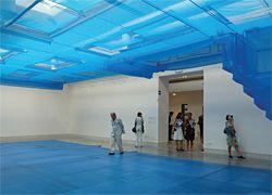 Blueprint by Korean artist Do-Ho Suh and Suh Architects, in the Palazzo delle Esposizioni della Biennale.