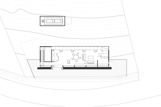 Ground floor plan of O'Sullivan Studio.