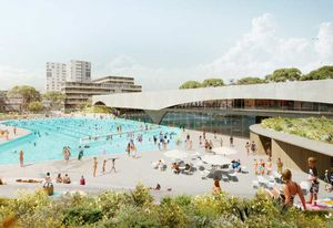 The winning design is inspired by the rock pools of Sydney's famous beaches.