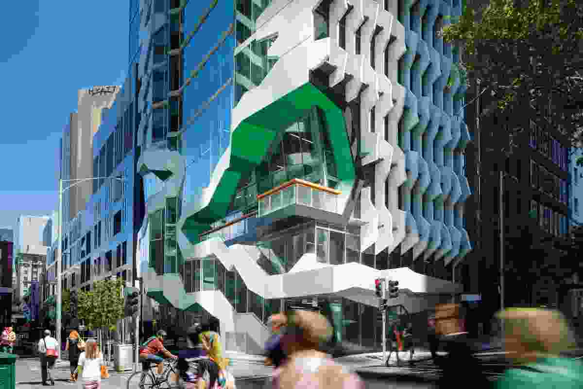 Lyons' 41X in Melbourne – a hybrid public–commercial building that serves as a new public face for the Australian Institute of Architects.