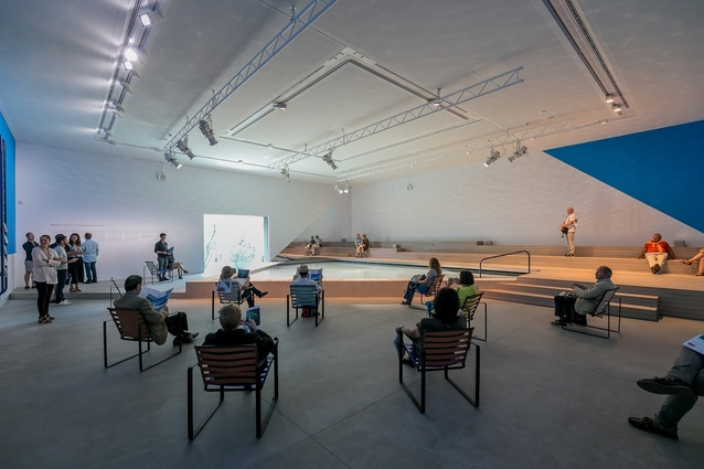 <i>The Pool: Architecture, Culture and Identity</i>, exhibition by Aileen Sage Architects (Isabelle Toland and Amelia Holliday) with Michelle Tabet, commissioned for the Australian Pavilion by the Australian Institute of Architects.