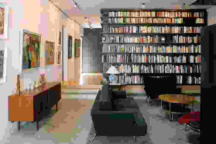 A place for living, working, art and books. Artwork (L–R): Ralph Balson, Grace Crowley. Sculpture: Robert Klippel. Ceramics: Gwyn Hanssen Pigott.