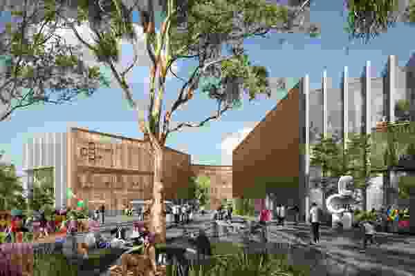 Preliminary design of the Coomera Civic Hub.
